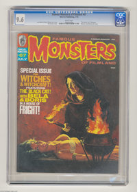 Famous Monsters of Filmland #67 (Warren, 1970) CGC NM+ 9.6 White pages. Witches and witchcraft issue. Vic Prezio cover...