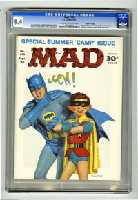 Mad #105 Gaines File pedigree (EC, 1966) CGC NM 9.4 Off-white to white pages. Batman gets a new Robin on this cover by N...