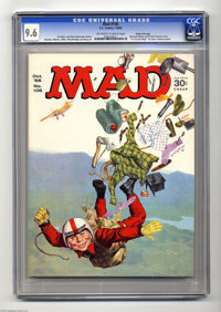 Mad #106 Gaines File pedigree (EC, 1966) CGC NM+ 9.6 Off-white to white pages. A Tarzan take-off by Frank Frazetta grace...