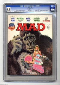 """Mad #192 Gaines File pedigree (EC, 1977) CGC NM/MT 9.8 White pages. The 1977 remake of """"King Kong"""" gets the Ma..."""