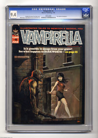 Vampirella #6 (Warren, 1970) CGC NM 9.4 White pages. Outstanding copy of an early Vampi issue featuring a Ken Kelly cove...