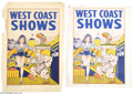 Memorabilia:Miscellaneous, Vintage Circus Posters and Window Cards (circa 1950s). Offered here are several colorful circus posters and window cards. Al...