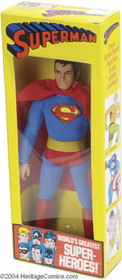 Superman - Mego World's Greatest Super-Heroes with Six-Faces (Marvel Mix) Box (Mego, 1972). No little boy who grew up in...