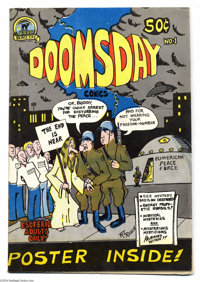 Doomsday Comics #1 1/150 (Black Cat Publishing, 1973) Condition: VF+. This is one of the rarest Undergrounds of all. Thi...