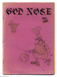 """God Nose #1 (Jack Jackson, 1964) Condition: VG/FN. Here it is, Underground Comix fans and collectors -- the """"Holy G..."""