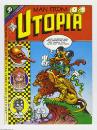 Man From Utopia #1 (San Francisco Comic Book Company, 1972) Condition: NM+. Here's a beautiful copy of one of the most g...