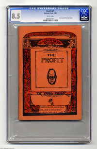 The Profit #1 (Go Broke Press, 1966) CGC VF+ 8.5 White pages. One of the first recognized Underground cartoonists was Jo...