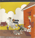 Original Comic Art:Sketches, Chic Young Studios - Blondie Illustration Original Art (undated). This large colorful illustration of Dagwood rushing to wor...