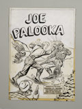 Original Comic Art:Covers, Al Avison - Joe Palooka #52 Cover Original Art (Harvey, 1951).Boxing legend and war hero Joe Palooka takes a poke at a gun-...
