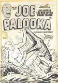 Original Comic Art:Covers, Al Avison (attributed) - Joe Palooka #58 Cover Original Art(Harvey, 1951). Joe Palooka has his hands full with a life and d...(Total: 2 items Item)