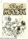 Original Comic Art:Covers, Frank Bolle - The Red Mask #42 Original Cover Art (MagazineEnterprises, 1954). One of the more successful Western titles of...