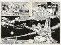 Original Comic Art:Splash Pages, Sal Buscema and P. Craig Russell - Tarzan #29, pages 2 and 3 Original Art (Marvel, 1979). Lost at sea, his beloved Jane dyin...