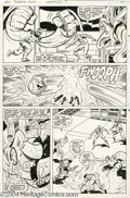Original Comic Art:Panel Pages, John Byrne and Joe Sinnott - Fantastic Four #218, page 22 Original Art (Marvel, 1980). Talk about a hootenanny! Spidey and M...