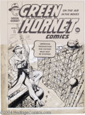 Original Comic Art:Covers, Arthur Cazeneuve - Original Cover Art for Green Hornet #12 (Harvey,1943). The Hornet swings to the rescue in this vertigo-i...