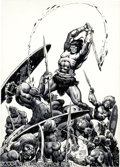Original Comic Art:Covers, Ernie Chan - Savage Sword of Conan #45 Inside Front Cover OriginalArt (Marvel, 1979). The Barbarian King slices his way thr...