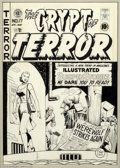 Original Comic Art:Covers, Johnny Craig - Original Cover Art for the Crypt of Terror #17 (EC,1950). Certainly one of the most historic pieces of art o...