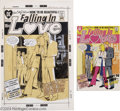Original Comic Art:Covers, Tony DeZuniga (attributed) - Falling in Love #122 Cover OriginalArt (DC, 1971). Tony DeZuniga illustrates a classic DC comi...(Total: 2 items Item)