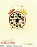 Original Comic Art:Miscellaneous, Walt Disney Studios - Mickey Mouse Alarm Clock Design SketchOriginal Art (Bradley Time Division, undated). Offered here is ...