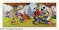 Original Comic Art:Splash Pages, Walt Disney Studios - Mickey Mouse Family Puzzle Original Art(undated). This colorful puzzle page features Mickey Mouse and...