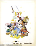Original Comic Art:Covers, Walt Disney Studios - Mickey Mouse, Goofy, and Donald DuckSpecialty Illustration Original Art (undated) Those pirates ofth...