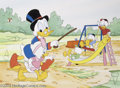 Original Comic Art:Splash Pages, Walt Disney Studios - Uncle Scrooge Puzzle Page Original Art(Disney UK, circa 1990s). Uncle Scrooge takes April (or is it M...