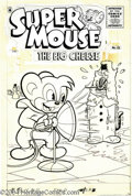 Original Comic Art:Covers, Al Fago - Super Mouse, The Big Cheese #35 Cover Original Art(Literary Enterprises, 1956). Terrible Tom has disguised himsel...