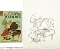 Original Comic Art:Covers, Jimmy Hatlo - Little Iodine #54 Cover Original Art (Dell, 1961).That bow-headed scamp Little Iodine tickles the ivories on ...