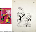 Original Comic Art:Covers, Whitman Staff Artist - New Terrytoons Starring Heckle and JeckleCover Original Art (Whitman, 1973). Those mischievous talki...(Total: 2 items Item)