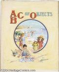 Original Comic Art:Covers, S. N. Ives - ABC of Objects Cover Original Art (McLaughlin, ca.1930s). This quaint seaside scenario shows a time long past,...