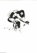Original Comic Art:Sketches, Jeff Jones - Tarzan with Knife Illustration (undated). A spare but dramatic drawing of Tarzan armed with only a knife, deftl...