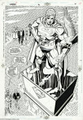 Original Comic Art:Splash Pages, Dan Jurgens and Brett Breeding - Superman #76, page 21 Original Art(DC, 1993). Visitors to the Superman memorial wonder abo...