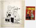 Original Comic Art:Covers, Warren Kremer (attributed) - Little Max #19 Cover Original Art(Harvey, 1952). Joe Palooka's pal, Little Max, uses every too...(Total: 2 items Item)
