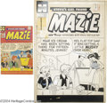 Original Comic Art:Covers, Warren Kremer - Mazie #15 Cover Original Art (Harvey, 1955). Atimeless gag in the tradition of Archie comics; so much s...(Total: 2 items Item)