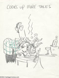 Original Comic Art:Sketches, Don Martin - Mad's Don Martin Cooks Up More Tales Cover Preliminary Original Art (Signet, 1969). Here's a chance to own a su...
