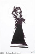 "Original Comic Art:Splash Pages, Shawn McManus - DC Style Guide, ""Morpheus with Raven"" Original Art(DC, 2001). Artist Shawn McManus perfectly captures the g..."