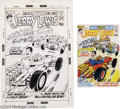 Original Comic Art:Covers, Bob Oksner and Dick Giordano (attributed) - The Adventures of JerryLewis #124 Cover Original Art (DC, 1971). Jerry Lewis is...