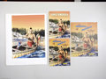 Original Comic Art:Covers, Ray - Indians of America Coloring Book Cover Original Art(Saalfield, circa 1950s). A Wyandotte Indian paddles his canoethr... (Total: 2 items Item)