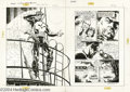 Original Comic Art:Splash Pages, Bill Reinhold - Punisher: Intruder Graphic Novel, pages 2 and 3Original Art (Marvel, 1989). The Punisher is on a stakeout -...(Total: 2 Original Art Item)