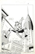 Original Comic Art:Splash Pages, John Romita Sr. - Spider-Man Adventures #1, page 1 Original Art (Marvel, 1994). Many artists have drawn Spider-Man over the ...