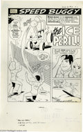 """Original Comic Art:Complete Story, Mike Royer - Hanna-Barbera Fun-In #12 Speed Buggy Complete 25-page Story """"The Ice Peril"""" Original Art (Gold Key, 1974). Prim..."""