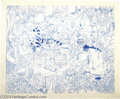 Original Comic Art:Sketches, Mike Royer - Winnie the Pooh Birthday Illustration Original Art (1990s). A large and elaborate blue-pencil illustration of W...