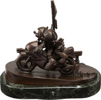 """Two Wheeling - Looking For Adventure"" Mickey Mouse and Minnie Mouse Limited Edition Bronze #22/50 (Walt Disne..."