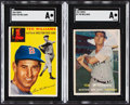 Baseball Cards:Lots, 1954 & 1957 Topps Ted Williams SGC Graded Pair (2)....