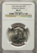 SMS Kennedy Half Dollars, 1966 50C SMS Double Die Obverse, Doubled Profile MS67 NGC....