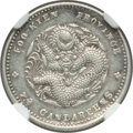China:Fukien Province, China: Fukien. Kuang-hsü 10 Cents ND (1903-1908) AU Details (Cleaned) NGC,...