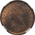 Hong Kong :British Colony, Hong Kong : British Colony. Victoria Cent 1899 MS63 Red and Brown NGC,...
