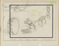 Animation Art:Concept Art, The Delivery Boy Mickey Mouse Story Gag/Layout Drawing (Walt Disney, 1931)....
