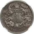 China:Empire, China: Hsüan-t'ung Dollar Year 3 (1911) XF Details (Chopmarked) NGC,...