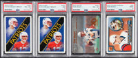 2000 Fleer, Metal & Pacific Aurora Tom Brady PSA Graded Rookie Quartet (4)