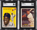 Baseball Cards:Lots, 1954 & 1957 Topps Willie Mays SGC Graded Pair (2)....